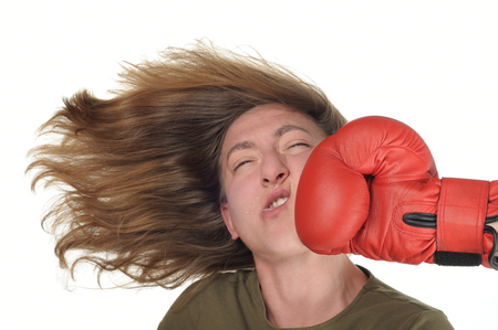27555968 - woman getting a punch